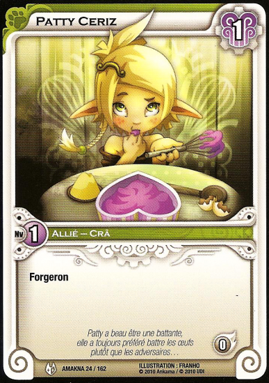 Scan de carte Wakfu: Patty Ceriz