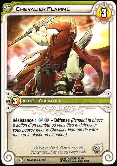Amakna: scan du Chevalier Flamme